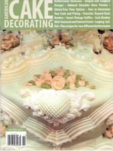 11. ACD Magazine Kathleen's Shabby Chic Cake Featured on the Cover Nov-Dec 2012 Issue