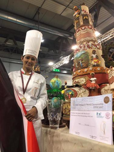 Michelle Sohan - FIPGC World Cake Competition 2017 - Milan, Italy - Team Trinidad & Tobago 7th Place - Won Best Tasting Cake