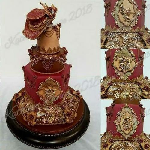 New Design - English Pressure Piping By Kathleen Lange Steampunk Wedding Cake 2018
