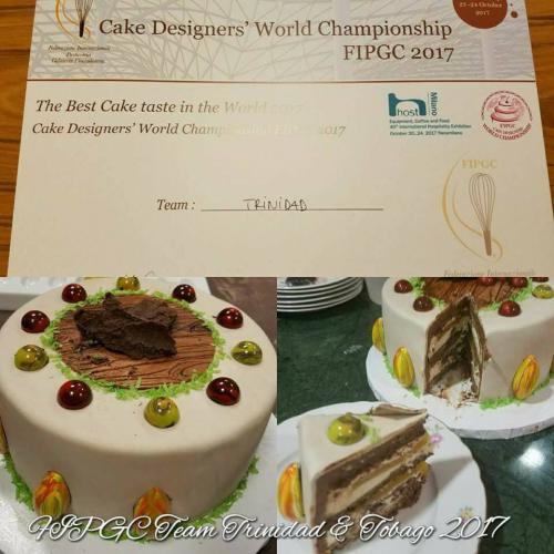 Team Trinidad & Tobago -  Michelle Sohan & Kathleen Lange Won Best Tasting Cake in the World at the FIPGC World Cake Competition - Milan, Italy 2017