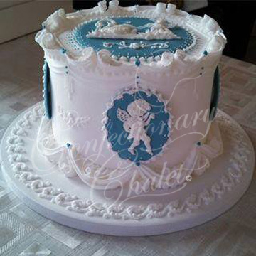 English Overpiping - Kathleen's Class Cake From Eddie Spence, M.B.E. - Rome 4/2014