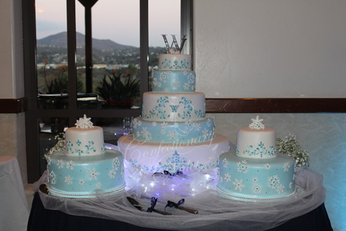 Winter Wonderland Wedding Cake - December 2013