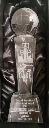 Top 10 Int'l Cake Artist Kathleen Received at The New York Cake Show - May 2016