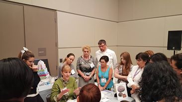 Kathleen Teaching- Cake & Sugarcraft Fair - Orlando, FL - Sept. 2015