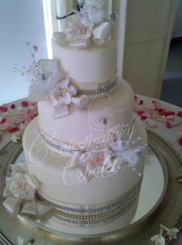 Fantasy Flowers Wedding Cake - October 2011