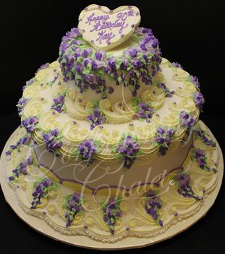 Wisteria Lambeth Birthday Cake - 2011