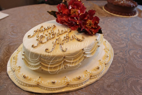 Mother's Lambeth Style - Peony Birthday Cake